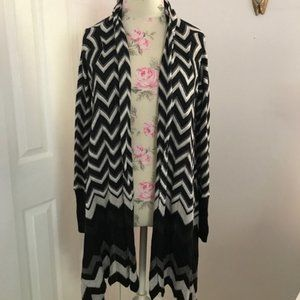 Autumn Cashmere Black, Gray and White Cardigan